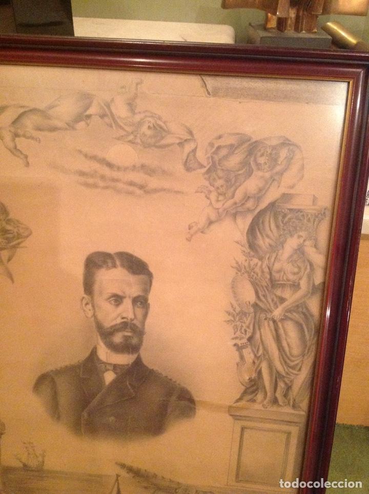 Arte: Dibujo antiguo Isaac Peral - Foto 4 - 186347843