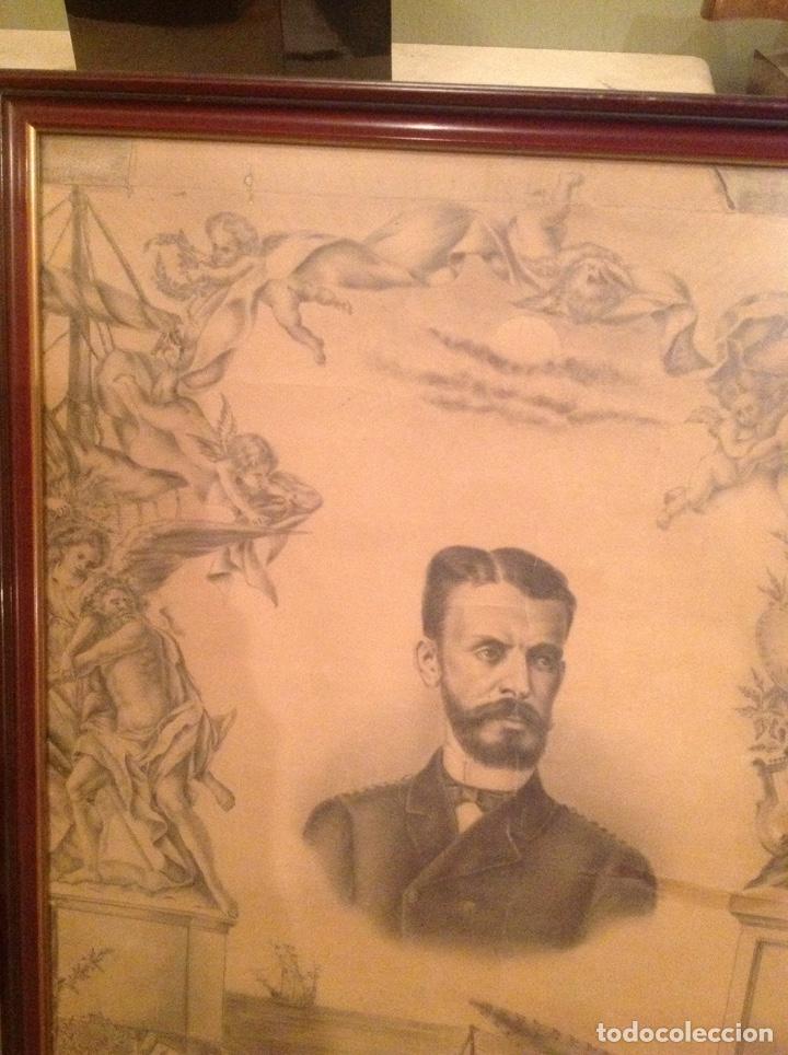 Arte: Dibujo antiguo Isaac Peral - Foto 5 - 186347843