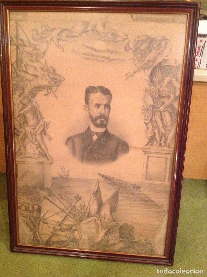 DIBUJO ANTIGUO ISAAC PERAL (Arte - Dibujos - Modernos siglo XIX)