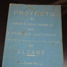 Art: PLANO PROYECTO DE UNA CASA DOBLE QUE FRANCISCO ZUBIZARRETA INTENTA CONSTRUIR EN C/ ELCANO. BILBAO.. Lote 186402586