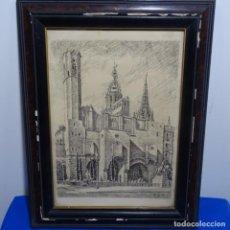 Arte: DIBUJO A PLUMILLA DE DESIDERI FUSTE RIBES.BUEN TRAZO.. Lote 186460700