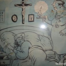 Arte: CARICATURA DE PICAROL, ENMARCADA CON CRISTAL MIDE 40X31,5 CTMS. 46X54 CON MARCO. Lote 187207211