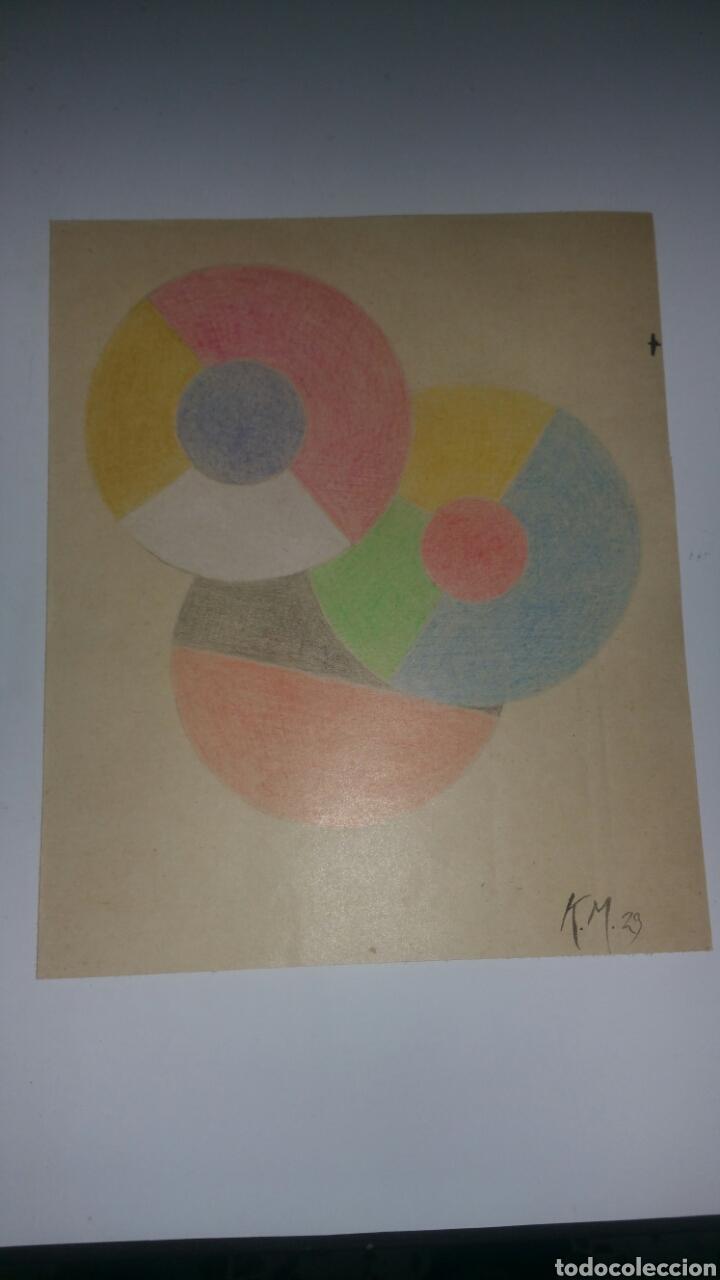 Arte: Dibujo de Kazimir Malevich,firmado por el artista y fechado 1929.Suprematismo,abstracto grafico. - Foto 2 - 187436151