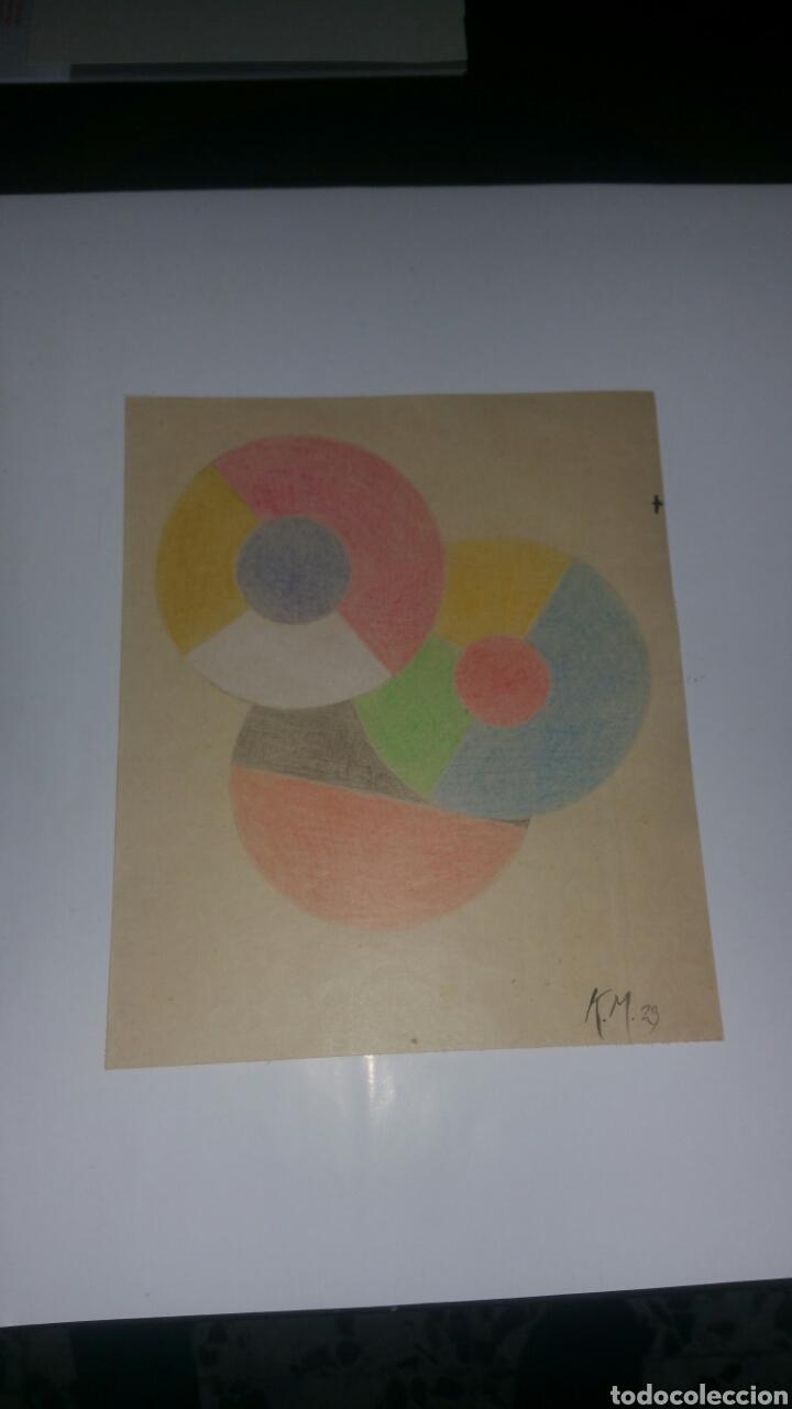 Arte: Dibujo de Kazimir Malevich,firmado por el artista y fechado 1929.Suprematismo,abstracto grafico. - Foto 3 - 187436151