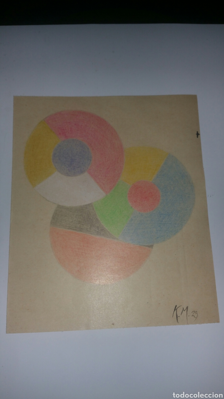DIBUJO DE KAZIMIR MALEVICH,FIRMADO POR EL ARTISTA Y FECHADO 1929.SUPREMATISMO,ABSTRACTO GRAFICO. (Arte - Dibujos - Modernos siglo XIX)