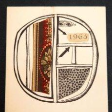Arte: GUINOVART - COLLAGE - 1965. Lote 187592582