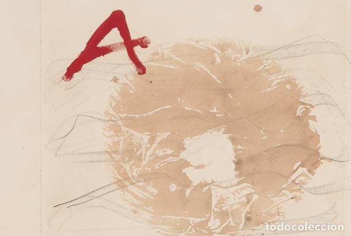 Arte: ANTONI TÀPIES Original 1979 ACRÍLICO, ACUARELA Y LÁPIZ CERTIFICADO DE AUTENTICIDAD COMISIÓN TAPIES - Foto 8 - 178906457