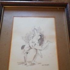 Arte: OFERTON!!!!! DIBUJO DEL GRAN PINTOR CANARIO MANOLO SÁNCHEZ.. LEAN LA DESCRIPCIÓN DE LAS FOTOS... Lote 188562452