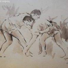 Arte: OFERTON!!!! DIBUJO DEL PINTOR CANARIO MANOLO SÁNCHEZ.. LEAN DESCRIPCIÓN EN LAS FOTOS. Lote 188562502