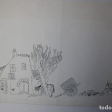 Arte: DIBUJO ORIGINAL OSCAR ESTRUGA , VILANOVA I LA GELTRU, BARCELONA. Lote 188602653