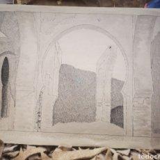 Arte: DIBUJO A TINTA ORIENTALISTA SOBRE PAPEL, AÑOS 20 - 30, TANGER?. Lote 263533285