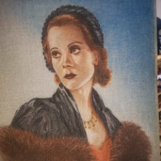 Arte: BENOIT, 1943, TANGER, DIBUJO RETRATO FEMENINO FIRMADO Y FECHADO 22 X 32 CM. Lote 188672810