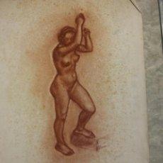 Arte: ORIGINAL. MUJER DESNUDA. MEDIDAS 47 X 32. ARTISTA JOAN CUCALA. Lote 189339871