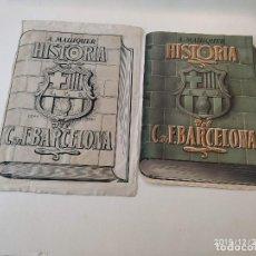 Arte: ORIGINAL DE LA SOBRECUBIERTA DEL LIBRO HISTORIA DEL C. DE F. BARCELONA. Lote 189356736