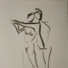 Arte: DIBUJO ORIGINAL A TINTA CHINA, A4. Lote 189582678