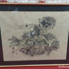Arte: DIBUJO A LÁPIZ FIRMADO JOAQUINA CUSACHS 1907. Lote 189614808