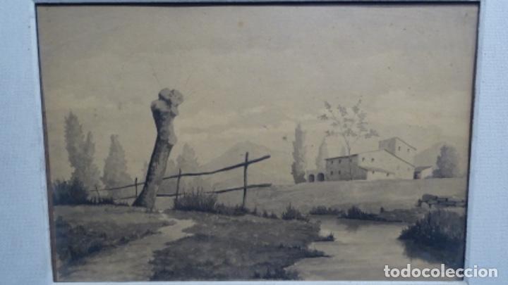 Arte: Acuarela y dibujo firmado j. Costa i vila. - Foto 2 - 189677855