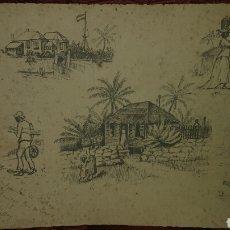 Arte: APUNTES DE CUBA DE EDUARDO VASALLO Y DORRONZORO, SIGLO XIX.. Lote 189711462