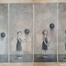 Arte: TETE VARGAS MACHUCA, PRECIOSO Y GRAN DIBUJO ORIGINAL FIRMADO.. Lote 189810710