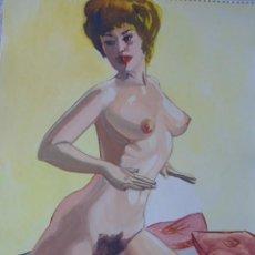 Arte: DIBUJO PINTURA EROTICA FIRMADO PEDRO GIL . Lote 189824973