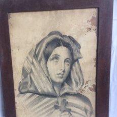 Arte: ANTIGUO CUADRO EN LAPIZ DE 1800!. Lote 189978451