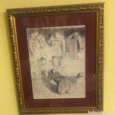 Arte: LUQUE PLUMILLA SOBRE PAPEL MEDIDAS 30X24 CON MARCO 44 X38. Lote 190115113