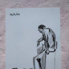 Arte: DIBUJO TINTA CHINA A4. Lote 190158381