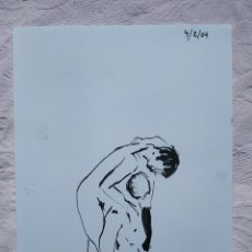 Arte: DIBUJO ORIGINAL A TINTA CHINA A4. Lote 190165687