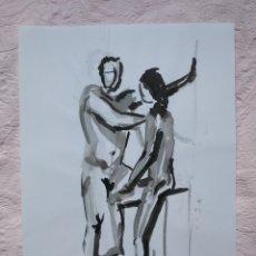 Arte: DIBUJO ORIGINAL A TINTA CHINA A4. Lote 190165931