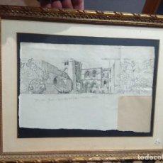 Arte: DIBUJO ILUSTRACIÓN A PLUMILLA ORILLAS DEL CISON GALILEA ALTA, GRAN CALIDAD. BONITO MARCO DE MADERA. Lote 190171277