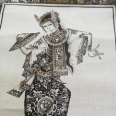 Arte: ANTIGUA PINTURA FIRMADA.. ASIÁTICA.. INDIA EN TELA.. 29 POR 22 CM. Lote 190342007