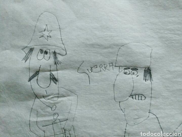 Arte: DIBUJO ATRIBUIDO AL HUMORISTA MIGUEL GILA. 1919-2001. ENVIO CERTIFICADO INCLUIDO. - Foto 5 - 190350281