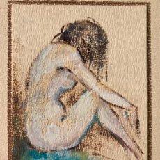 Arte: TECNICA MIXTA SOBRE PAPEL FIRMADA , DESNUDO FEMENINO. Lote 66358190