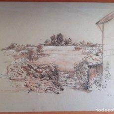 Arte: MARCELINO SANTA MARIA. PAISAJE Y CASA. Lote 190497816