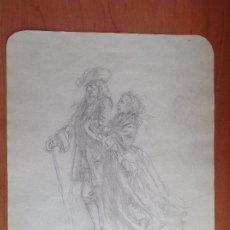 Arte: JOSE DENIS. PAREJA DE ANCIANOS.. Lote 190571480