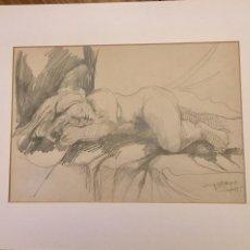 Arte: DIBUJO A LAPIZ DE EMILIO TORREGO. Lote 190647973