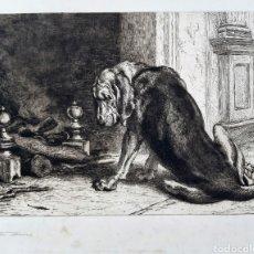 Arte: DIBUJO A PLUMILLA FIRMADO Y FECHADO 1885. ( ESCUELA INGLESA ). Lote 190701971