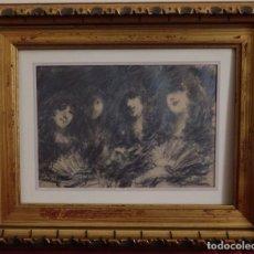 Arte: TARDE DE TEATRO. DIBUJO ORIGINAL Y FIRMADO POR FRANCISCO DOMINGO MARQUÉS. . Lote 190775078