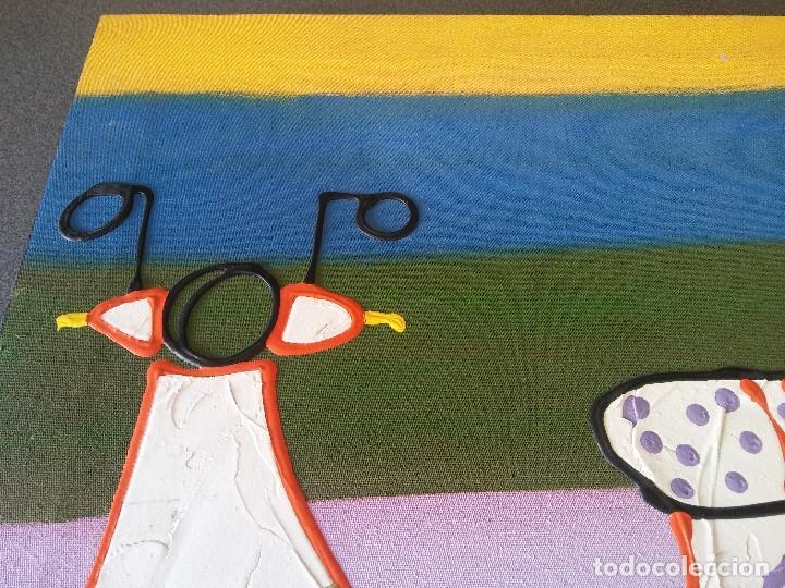 Arte: Pintura sobre lienzo Moto Vespa Naif - Foto 2 - 190865412