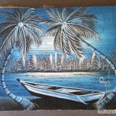 Arte: PINTURA SOBRE LIENZO PAISAJE PLAYA. Lote 190865905