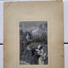 Arte: JOSE SERRA Y PORSON - DETRÁS DE LA CRUZ EL DIABLO. Lote 190871895