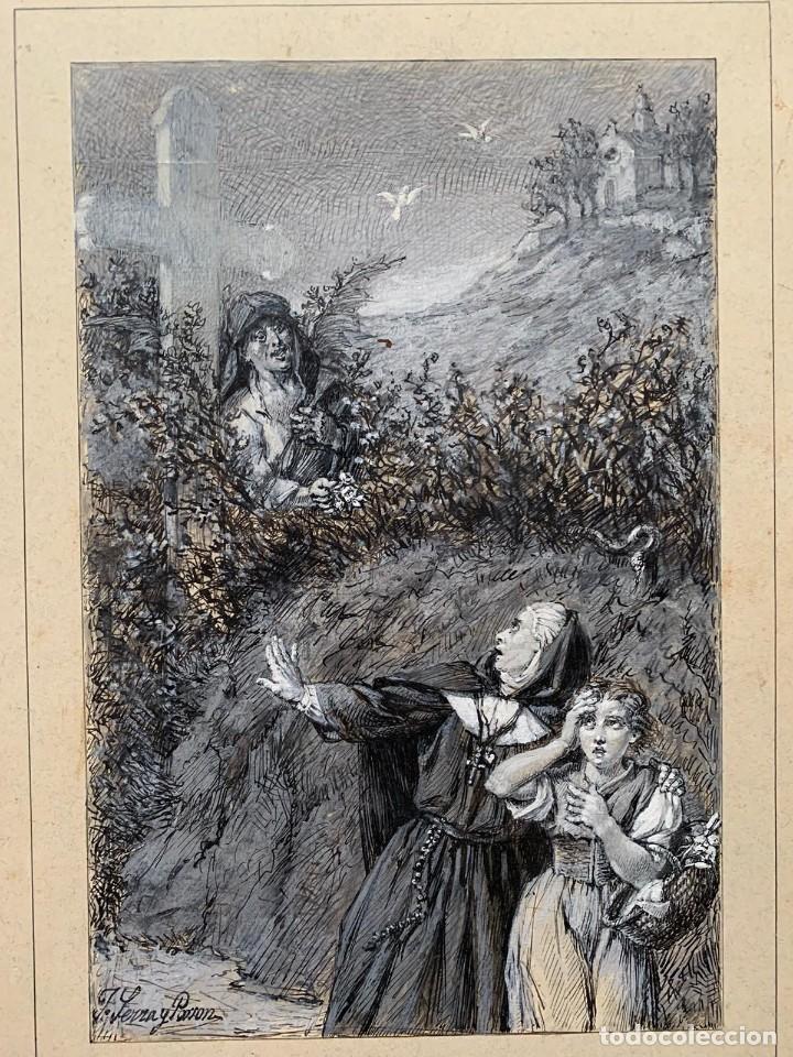 Arte: JOSE SERRA Y PORSON - DETRÁS DE LA CRUZ EL DIABLO - Foto 2 - 190871895