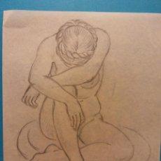 Arte: ORIGINAL OBRA DE FRANCESC GASSÓ. MUJERES. MEDIDAS 19 X 16. Lote 206134910