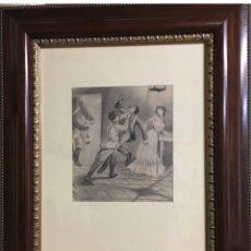 Arte: JOSÉ SEGRELLES DIBUJO LÁPIZ PAPEL MEDIDAS 22X19 CON MARCO 56X48. Lote 190933845