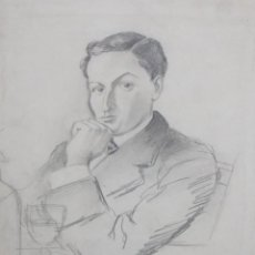 Arte: RICARDO OPISSO I SALA (TARRAGONA, 1880 - BARCELONA, 1966) DIBUJO ORIGINAL A TINTA Y CLARION. Lote 191065417