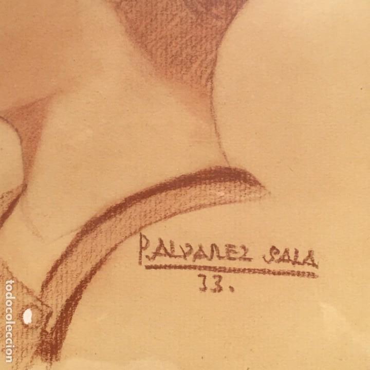Arte: Retrato de niño por José Álvarez Sala (Gijón) firmado en 1933 - Foto 5 - 191125152