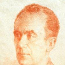 Arte: ERNESTO FURIÓ (VALENCIA 1902-1995) RETRATO DE CABALLERO , SANGUINA SOBRE PAPEL 45 X 30. Lote 191275531