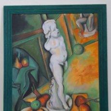 Arte: COPIA CEZANNE NATURALEZA MUERTA CON ESCAYOLA. Lote 191319065