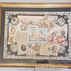 Arte: SINGULAR DIBUJO A PLUMA Y PINTADO A MANO DE J. ROURE FECHADO 1880. Lote 191324126