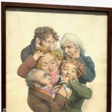 Arte: LITOGRAFIA DE LOUIS LEOPOLD BOILLY , SIGLO XIX ,. Lote 191340580